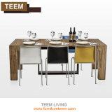 Mesa de jantar extensível de madeira afiadas projeta