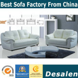 Cream Color Fashion Modern Genuine Leather Sofa (302)