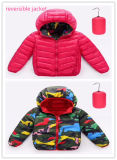 Estilo novo pré-feito crianças reversíveis revestimento do inverno