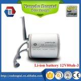 Batterie Li-ion 12V 80ah pour le système d'UPS et l'énergie solaire