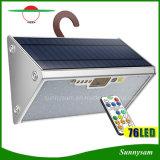 IP65 водонепроницаемый фонарь в Саду 76 LED микроволновой датчик радара лампа солнечной энергии