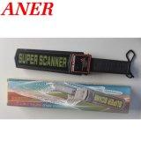 Alta batería portable al por mayor del uso del detector de metales de la alarma del sonido y de la luz de la sensibilidad 9V