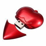 Fútbol Pendrive USB de plástico en forma de corazón de la memoria USB Stick USB