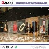 Visualización de LED transparente a todo color Caliente-Vendedora P5-8 para el anuncio comercial