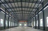 Entrepôt bleu d'acier de structure métallique de mur de couleur