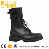 2014 Nuevo Diseño Negro de cuero genuino impermeable Bota de Combate Militar