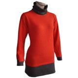 Gn 1606 Yak y lana mezclada de las mujeres de punto suéter