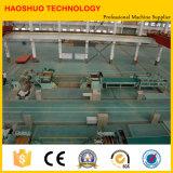 Corte semiautomático da bobina de aço do metal à linha do comprimento na maquinaria da estaca do metal
