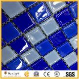 Tegel van de Muur van het Mozaïek van het Glas van het Mozaïek van het Zwembad de Blauwe/Witte