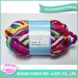 アクリルヤーンを編む安く柔らかいセーターファブリック手