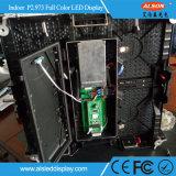 Indicador de diodo emissor de luz interno do arrendamento do estágio da cor cheia do RGB P2.973