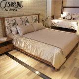 熱い販売の静かに快適な純木のベッド(CH-602)
