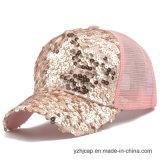 Kundenspezifische Stickerei-Schutzkappe Burshed Baumwollcap der fördernden Sport-Stickerei-Dame