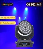 Luz principal movente da lavagem do feixe do diodo emissor de luz de Yuelight 4in1 RGBW 36PCS*10W com zoom