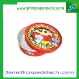 Коробка изготовленный на заказ круглого косметического цветка сливк внимательности кожи дух упаковывая