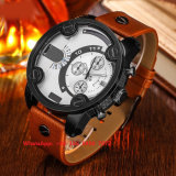 Reloj de los hombres populares del cuarzo con la correa de cuero genuina Fs 567