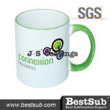 Felgen-Griff-Becher der Js Beschichtung-Sublimation-Becher-11oz - hellgrünes B11baa-05
