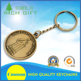 真鍮材料および4つのリンクキーホルダーが付いているカスタマイズされた金属Keychain
