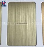 GoldhaarstrichEdelstahl farbiges Blatt Metallplatten für Innendekoration