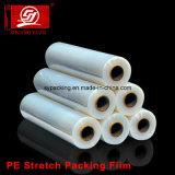 Filme extensível de embalagem de plástico LLDPE de 4cm a 200cm para filmes de paletes e alimentos