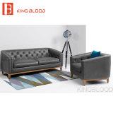 Venda de couro ajustada do sofá do sofá superior cinzento novo da sala de visitas do projeto