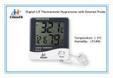 [لكد] [ديجتل] [ك/ف] ميزان حرارة مكثاف مع خارجيّة درجة حرارة تحقيق [هتك-2]