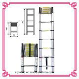 трап En131-6 телескопичный, алюминиевый трап шага, алюминий 2.6m/3.2m/3.8m/4.4m трапа