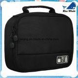 [بو251] [إلكترونيك برت] عربيّة مستحضر تجميل حقيبة أسود حمل تخزين حقيبة