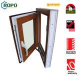 Openslaand raam van pvc van de Kleur van de hoogste Kwaliteit het Houten