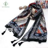 Fashion Style Lady foulard au Népal avec des glands châle de plage