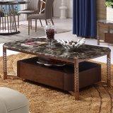 스테인리스 다리 (LC2015)를 가진 거실 가구 대리석 상단 커피용 탁자