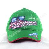 緑の綿のあや織りの子供Caps&Hats