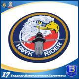 Custom 3D Design Hawk Rider Rubbber Soft PVC Patch com fita mágica de volta