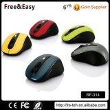 Ratón óptico portable de la radio del botón 2.4G 4 del color de encargo