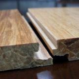 Tronco raspado de mano Piso de bambú tejido Uso interior