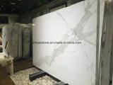 Marmeren Plak van de Sneeuw van Italië Statuario de Witte voor Badkamers en Bovenkanten