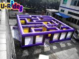 Het openlucht van het het labyrintspel van het sportspel opblaasbare opblaasbare achtervolgde labyrint voor verkoop