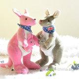 Gift van de baby vulde de Dierlijke Kangoeroe van Doll van de Pluche van het Stuk speelgoed Blauwe