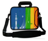 "Preto 15 ""15.6"" Neoprene Laptop Carrying Bag Sleeve Case + Shoulder Strap"