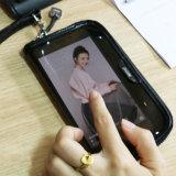 Raccoglitore trasparente della plastica del PVC del sacchetto del Wristlet di iPhone della pelle verniciata di modo