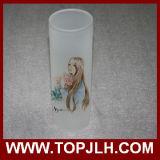 Vaso decorativo de sublimación en blanco Vaso de flor de vidrio