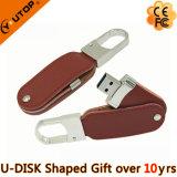 USB Pendrive do couro do presente do anel chave (YT-5120)