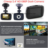 "Camera 2.4 ""Full Car Black Box Dash com 5.0mega CMOS, ângulo de visão de 120degree, HDMI, AV-out, H. 264 Gravador de Vídeo Digital DVR-2405"