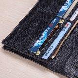 100% натуральная кожа портмоне мужская долго Wallet кошелек Wallet портмоне с логотипом клиента (B-06)