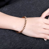 Goldfrauen-Armband des einfachen Entwurfs-18k Rose