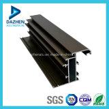 Profil en aluminium en aluminium d'extrusion de porte coulissante verticale et avec anodisé