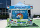 Farbenreicher Druck knallen oben den Gazebo, der faltendes Zelt für Verkauf bekanntmacht