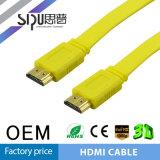 Sipu flaches HDMI überzogener Support 3D 4k des Kabel-1.4V Gold