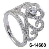 Nieuw Zilver 925 van de Ring van het Ontwerp van de Kroon van de Juwelen van de Manier van het Ontwerp