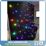 LED Star Curtain, décoration de mariage, Black Backdrop Light